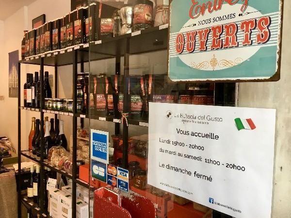 OUVERT 11h-20h mar-sam, lundi 15h-20h.<br /> Parmigiano Reggiano et charcuterie dans le frigo. Jambon cru, mortadella Bio, coppa, bresaola, tout coup&eacute; tr&egrave;s fin &#039;&agrave; l&#039;italienne&#039;